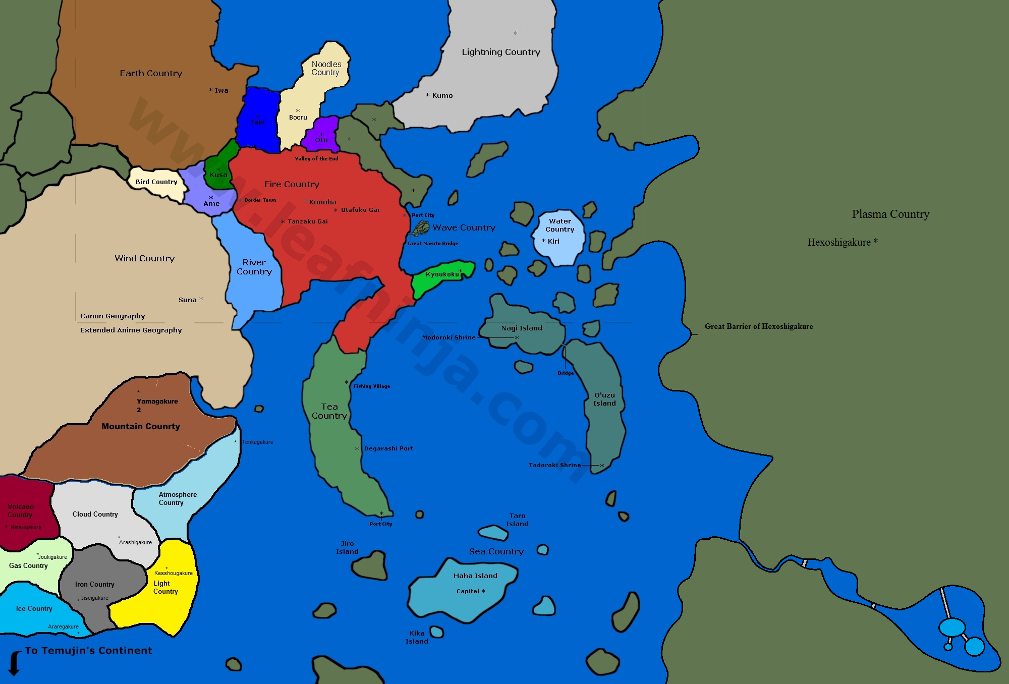 Image World Map Version Png Naruto Fanon Wiki FANDOM - World map with countries and capitals wiki