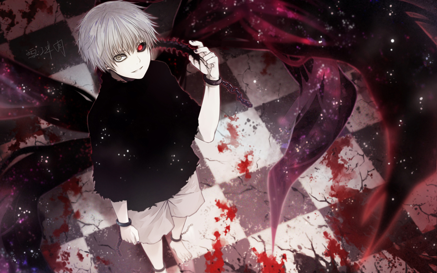 Http Wallanonforge Wp Content Uploads Anime TokyoGhoul F Kaneki Ken Picture Tokyo Ghoul Kagune 1440x900