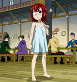 Erza first arrive to Fairy Tail