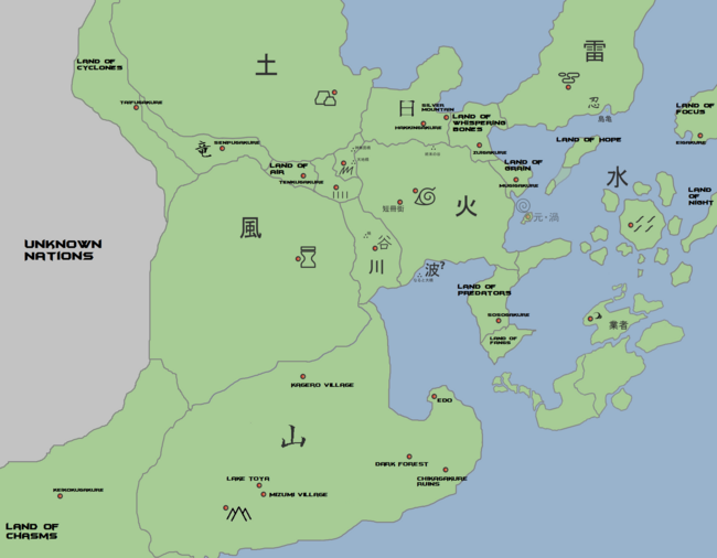 Geography naruto fanon wiki fandom powered by wikia world map gumiabroncs Choice Image