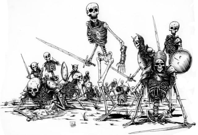 Earth Release Resurrection Technique: Skeleton Army
