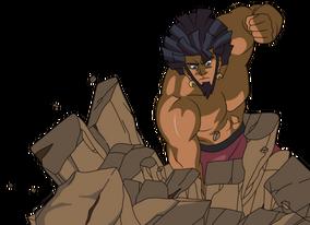 Toji punch ground colored