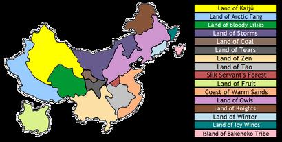 Méihuā Continent Map