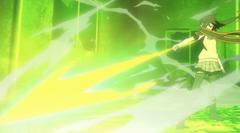 Akari using Lightning Release