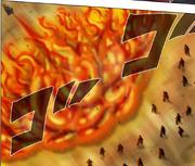 Satoru using Great Fire Annihilation