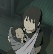 Young Katsumi with his Infant Brother