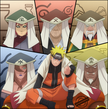 Naruto and 5 kages