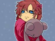Kazumi de pequeña triste