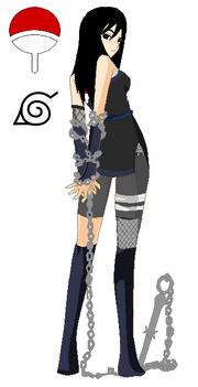 Naruto oc nameless uchiha girl by blackyinwhiteyang-d4yrshf