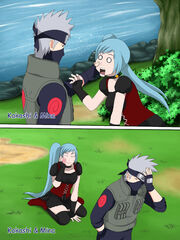 Kakashi and mina she like a child.