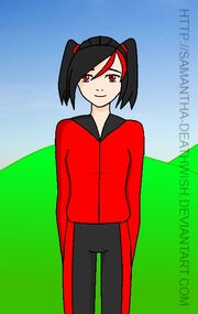 Younger Akami with longer hair