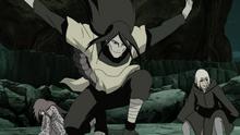 Orochimaru arrives to the battlefield