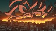 Konoha's destruction by Kyuubi-1