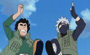Hatake-kakashi-maito-guy-best-friends-running-race-funny-anime-jokes-manga-photos