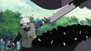 Kakashi cuts Jinin Akebino