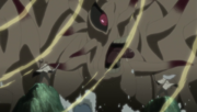 Hagoromo and Hamura fight the Ten-Tails
