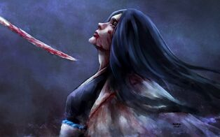 Bloody-sword-anime-painting-girl-nanfe-shinigami-art-hd-wallpaper
