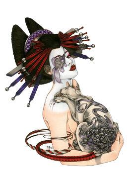 Illustrations-zoe-lacchei geisha big 09