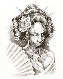 Zombie-geisha-tattoo-design-4