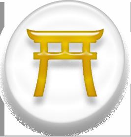 Shinto torii icon gold