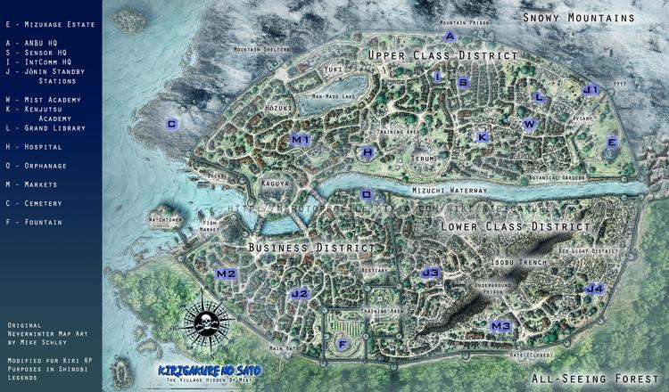 Kirigakure Map