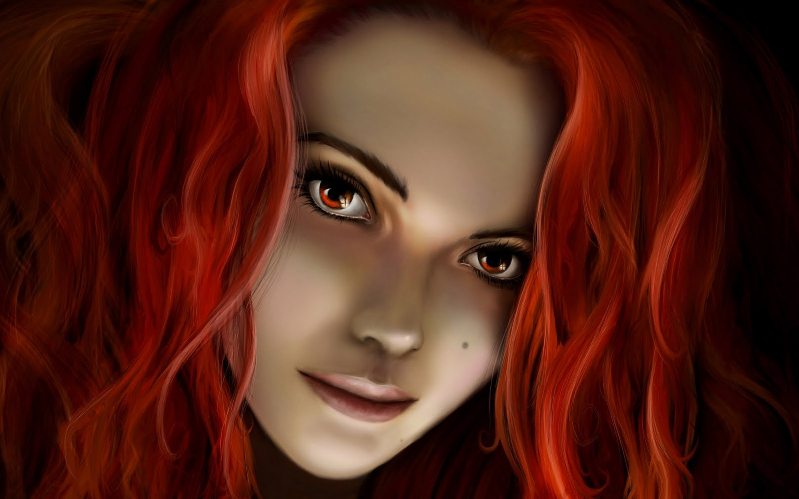 Image fantasy girl with red hair wallpaperg naruto profile fantasy girl with red hair wallpaperg voltagebd Images