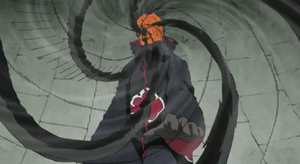 Obito using Kamui