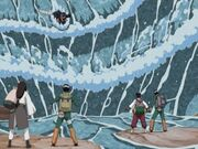 Kisame attacking team 10