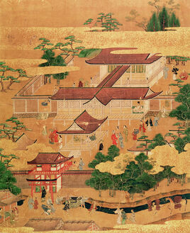 The-life-and-pastimes-of-the-japanese-court--tosa-school--edo-period-japanese-school