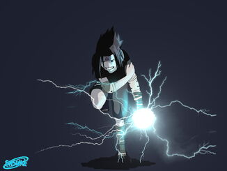 Sasuke chidori wallpaper by blacksmiley