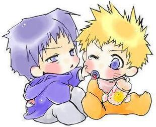 Naruto Sasuke Babies by coffeemafiaeffect