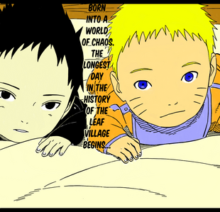 Baby Naruto and Sasuke by nene3102