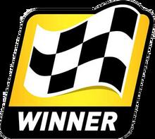 Cup series winner sticker
