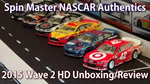 2015 Spin Master NASCAR Authentics Wave 2 HD Unboxing and Review
