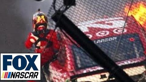 """Radioactive Indianapolis - """"(Expletive). I'm on fire."""" NASCAR RACE HUBHUB"""