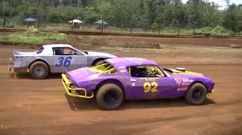 Purple V8 Stock Car VS. Grey V8 Modified Stock Car