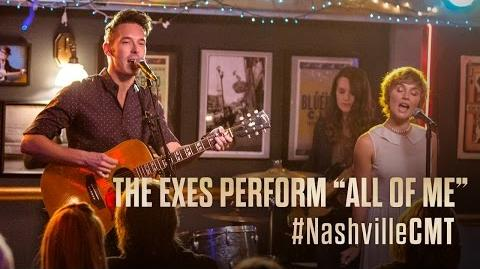 """NASHVILLE on CMT The Exes Sing """"All Of Me"""" at the Bluebird Cafe"""
