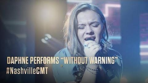 "NASHVILLE on CMT Daphne Performs ""Without Warning"""