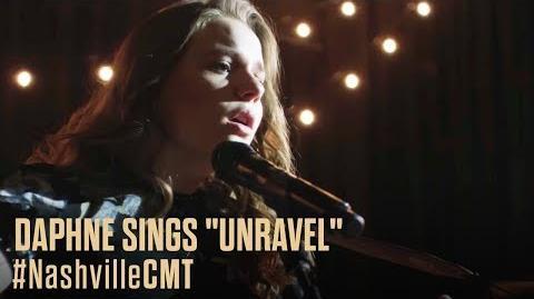 "NASHVILLE ON CMT Scene Lift Daphne Sings ""Unravel"""
