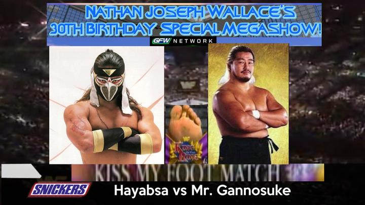 -Nate30 Kiss my foot match Hayabusa vs Gannosuke v1