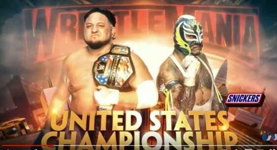 (233) Wrestlemania 35 Samoa Joe vs Rey Misterio - Official Match Card - YouTube