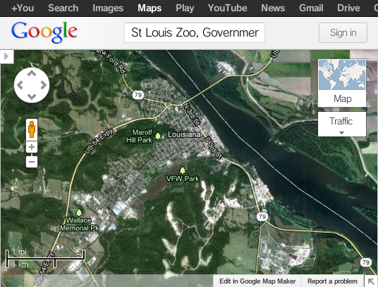 File:St Louis Zoo, Government Drive, St. Louis, MO - Google Maps 3.png