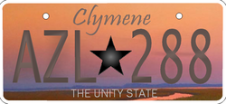 Clymene license plate