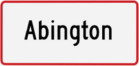 Abington sign