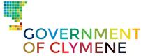 Clymene Government logo - English