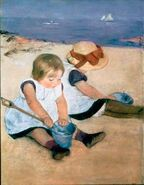 The Beach-mary-cassatt
