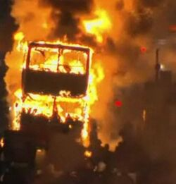 Kinley bus burning