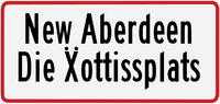 New Aberdeen sign