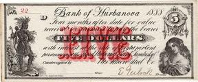 Bank of hurbanova $5