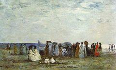 Bathers on the beach